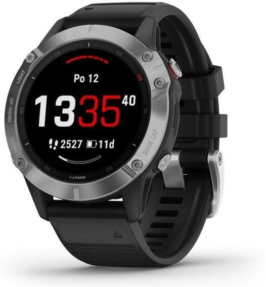 Watch Garmin Garmin fenix6 Glass, Silver/Black Band