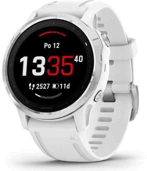 Watch Garmin Garmin fenix6S Glass, Silver/White Band